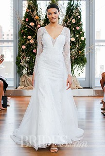 Beautiful Wedding Dresses Inspiration 2017/2018 : Winter brides will love the lacy long sleeves on this Isabelle Armstrong wedding... | by GlamFashionNET