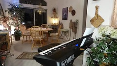 Somewhere Over the Rainbow, Hawaiian Style with Sax on the Yamaha Keyboard, Inspired by IZ