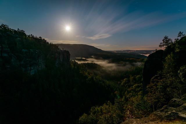 Moody moonrise