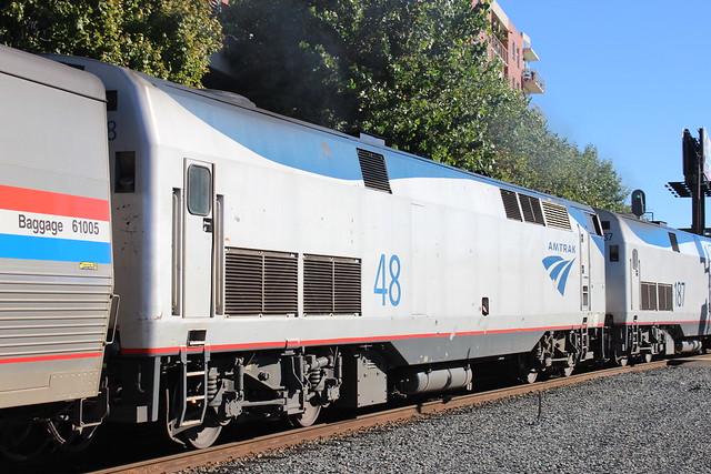 AMTK 48 (GE P42DC) in Emeryville, CA