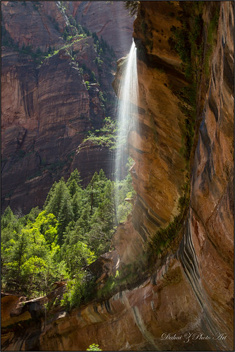 stone utah waterfall sandstone unitedstates hiking hurricane zionnationalpark emeraldpool zioncanyon canonef24105mmf4lisusm canoneos6d