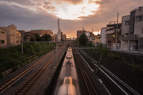 sunset japan train tokyo 東京 otsuka 山手線 chicaco11