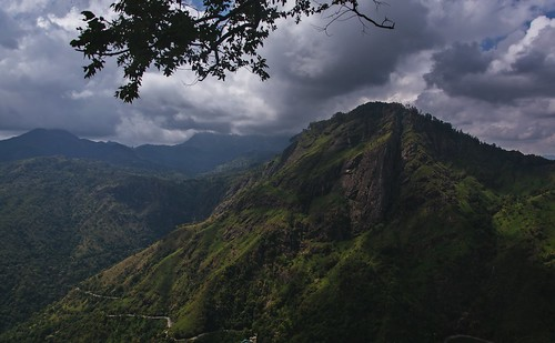 asia outdoor nature mountains green sky skyscape clouds srilanka india rocks high top
