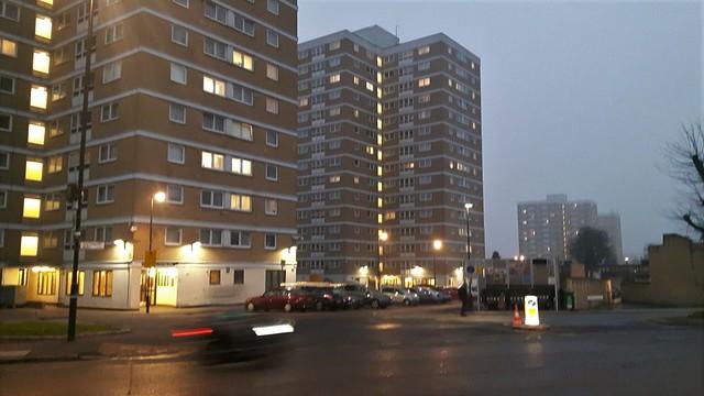 Partridge Way, London N22 - late afternoon, nearing dusk