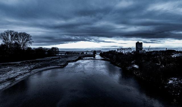 Der Rhein bei Wesel NRW