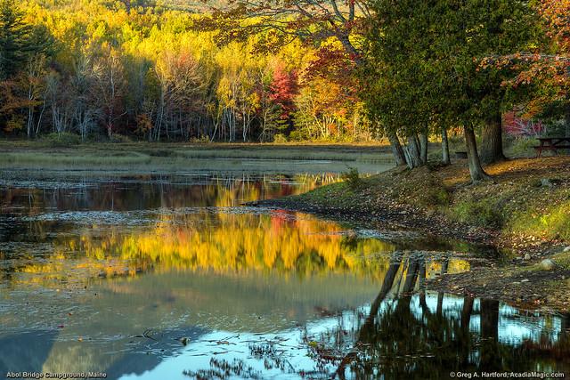 Autumn at Abol Bridge Campground