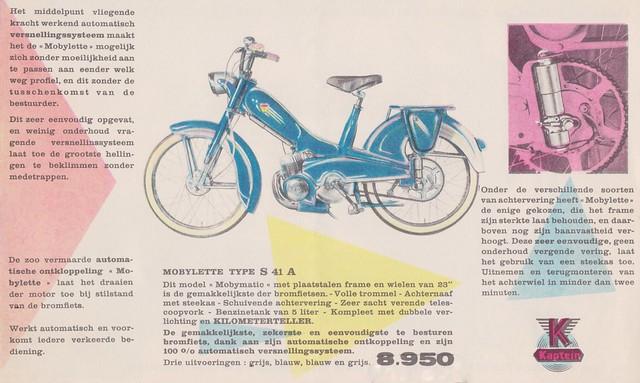 MOTOBECANE Dealer Brochure Model Mobylette S1A, S2A and S41A (France 1950)_3