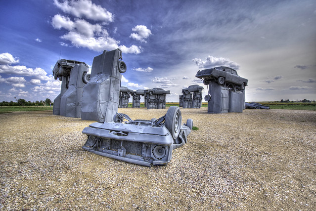 Carhenge near Alliance - Nebraska - USA
