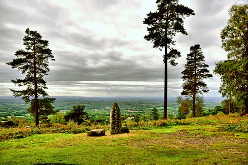 clouds carving sculpture view hill landscape fields ghe