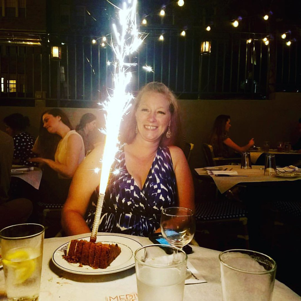 Great Birthday Dinner And Surprise Dessert Fireworks Ton