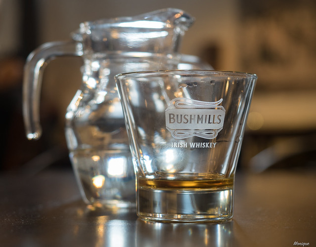 A tasting at The Old Bushmills Distillery.