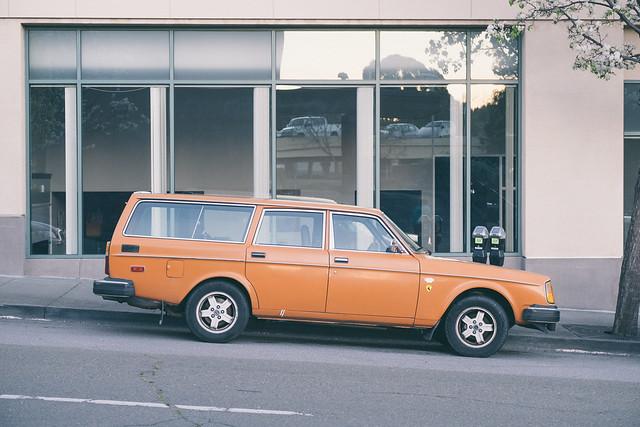 Orange Volvo