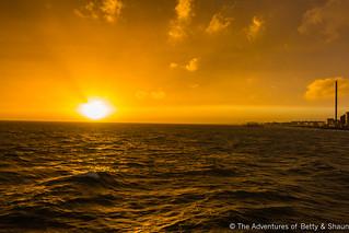 The Sun Setting From Brighton Pier