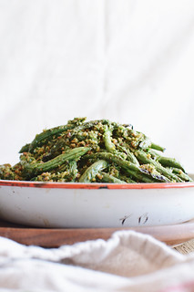 grilled green bean salad | by Hapaway