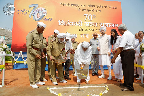 Satguru Mata Ji inaugurated voluntary Sewa for Samagam