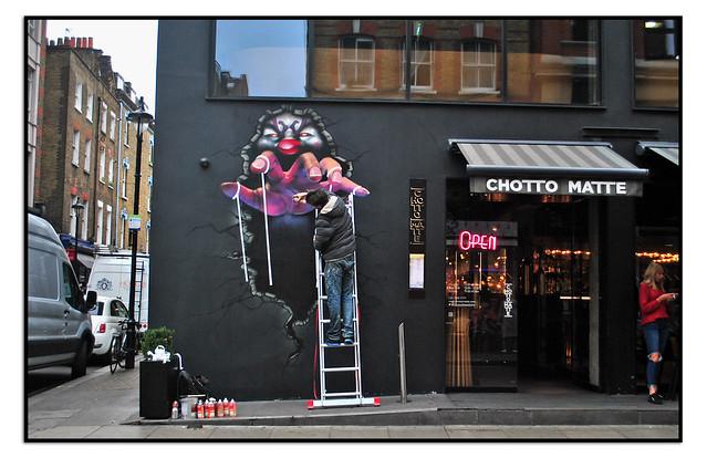 STREET ART WORK IN PROCESS by TOM BLACKFORD