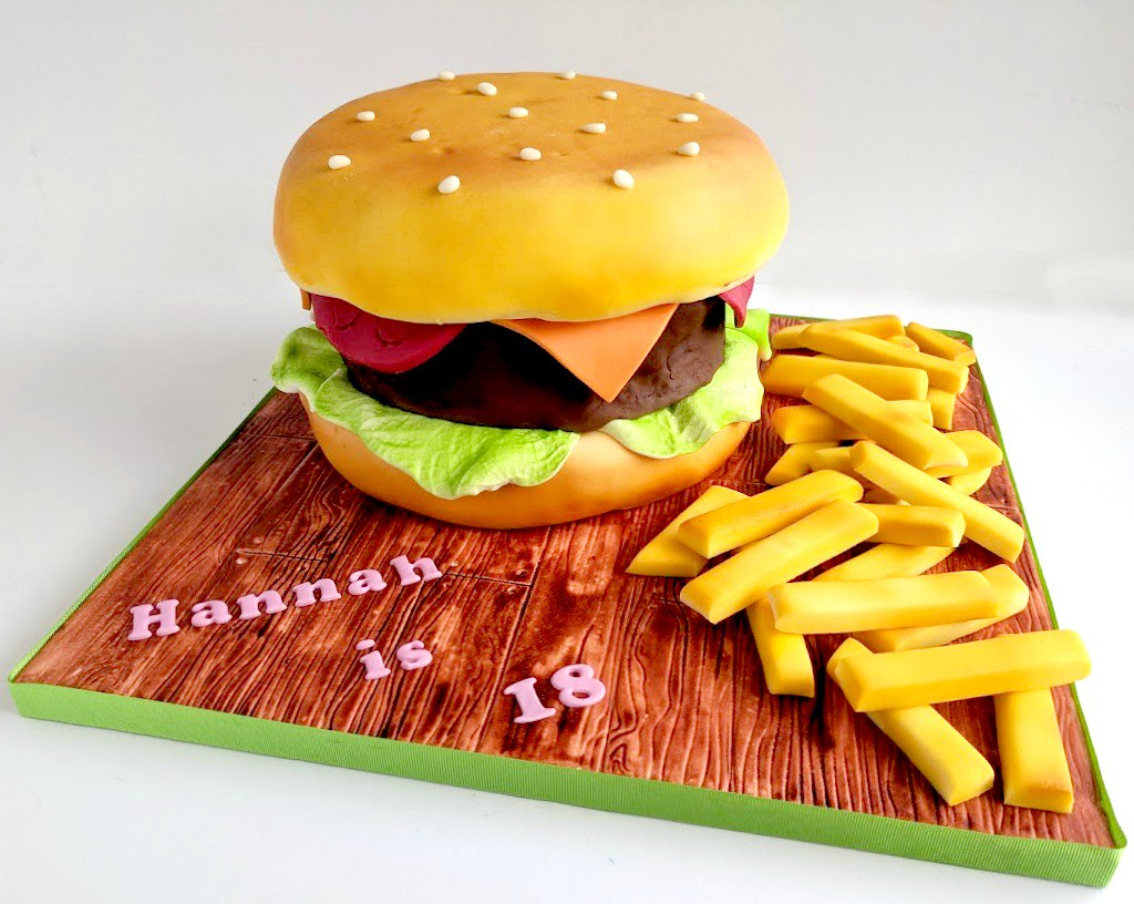 Swell Burger Birthday Cake Swirlsbakery Flickr Funny Birthday Cards Online Inifofree Goldxyz