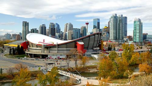 Calgary and Saddledome. Alberta. | by Bernard Spragg