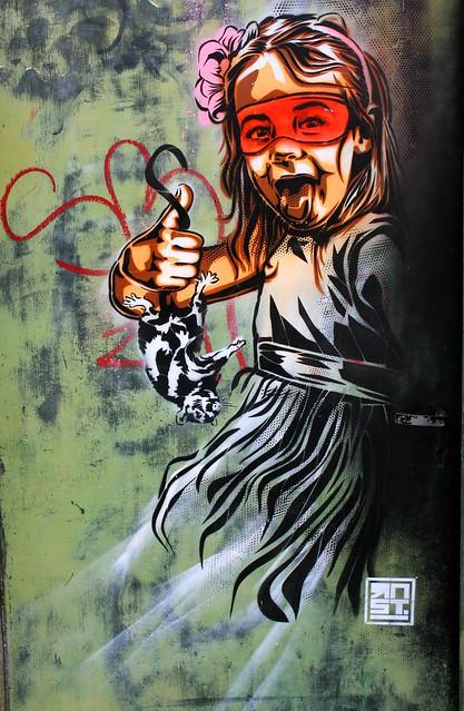 Street art, ville de Quimper (Bretagne, Finistère, France)