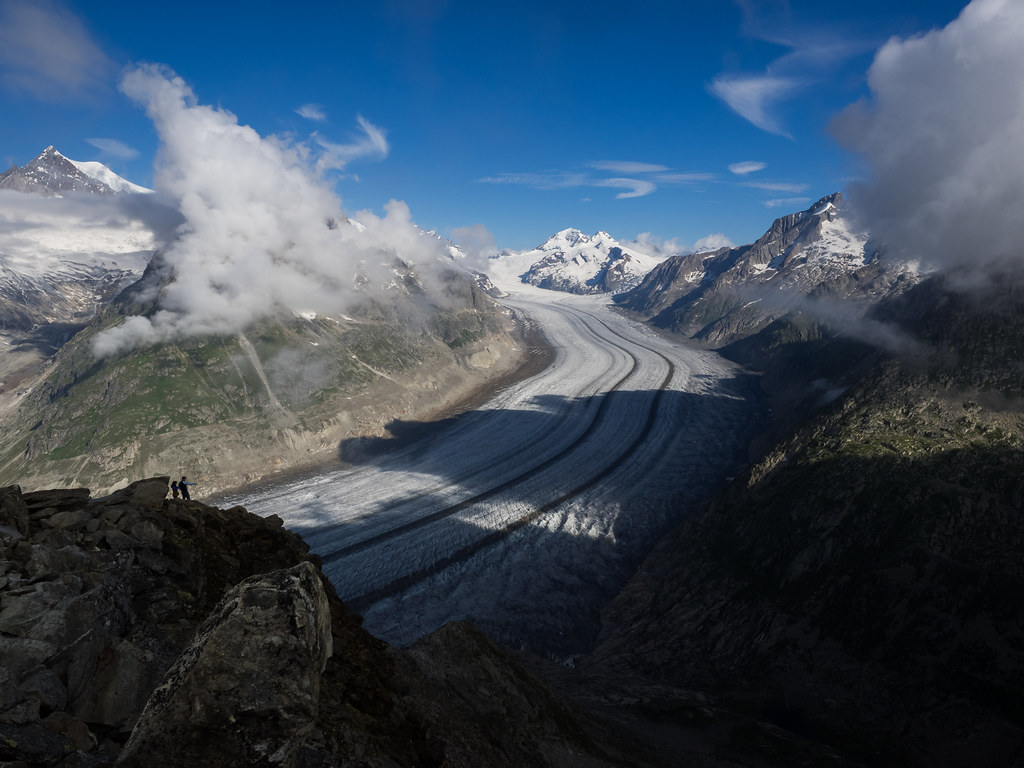 Extreme Environments: Looking towards the source of the Aletsch Glacier, Bernese Alps, Valais, Switzerland