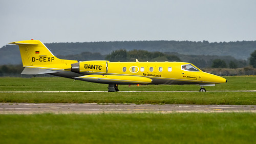 Yellow Learjet | by lee adcock