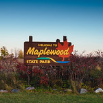 Welcome to Maplewood State Park - Welcome Sign