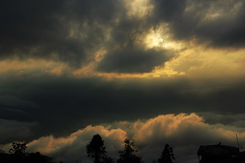 darjeeling westbengal sunset dusk clouds