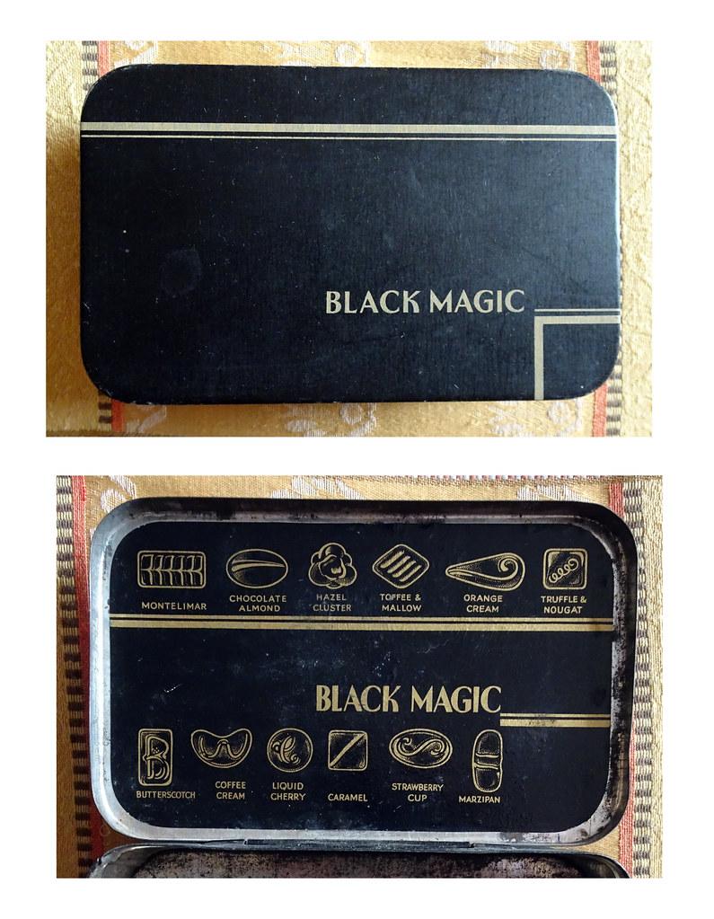 Black Magic Chocolate Tin 1950s 1960s A Black Magic Tin P