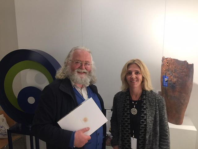 Jan Theuninck visiting Hilde Debruyne at Bozar in Brussels