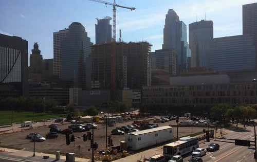 Ritz Residences construction and Minneapolis skyline 9-23-17 | by bapster2006