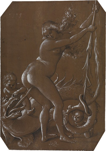 Hans Baldung gen. Grien - Witch and lustful dragon [1515]