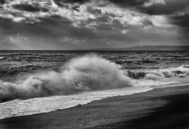 Waves, light and shadow, Dorset