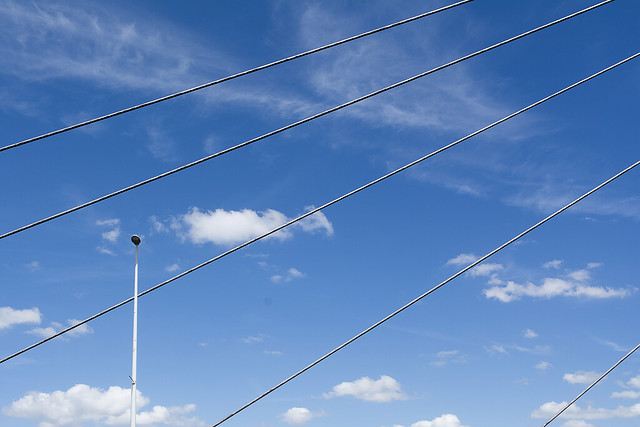 Street lamp and cables