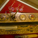 A golden desk stationery set at Egypt's Royal Jewelry Museum