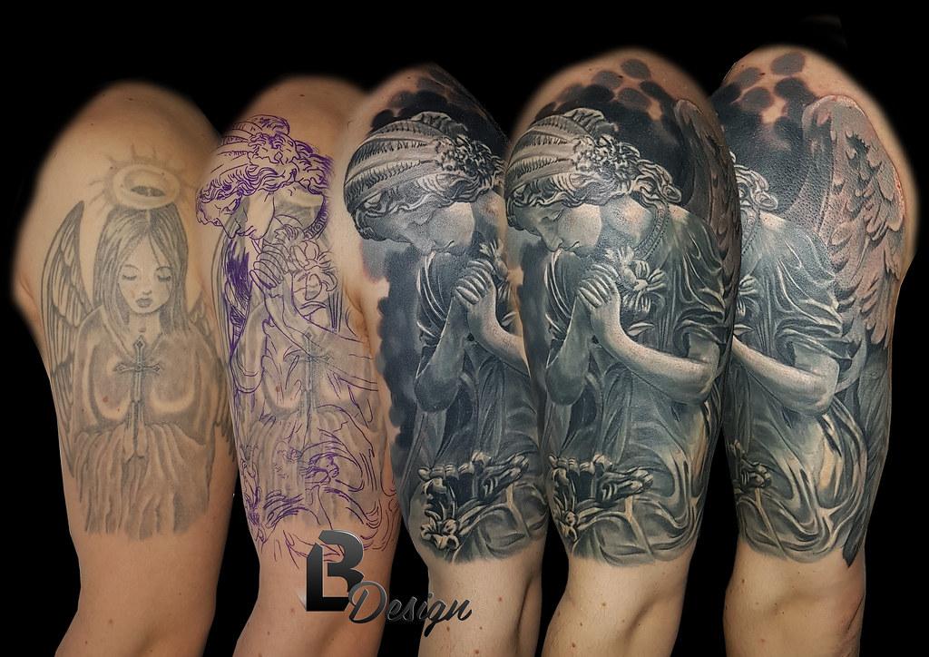 Angel cover up | BL Design Tattoo Studio | Flickr