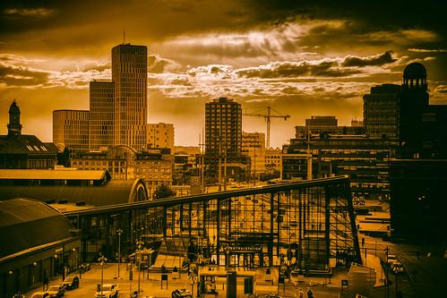 twilight himmel centralstation moln malmö malmölive street cityview city streetview architecture evening sky sweden skånelän sverige se