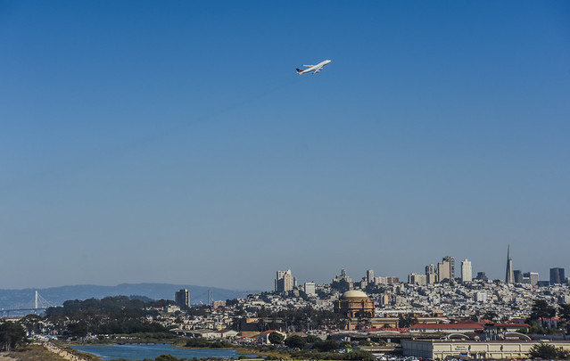 the friendly skys over san francisco