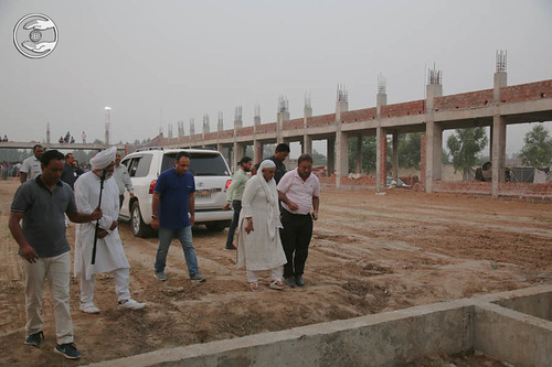HH visited the site, the construction for a new Satsang Bhawan is in progress