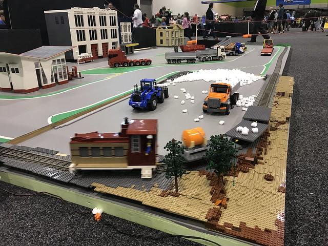 LEGO RC trucks at Auckland Brick Show