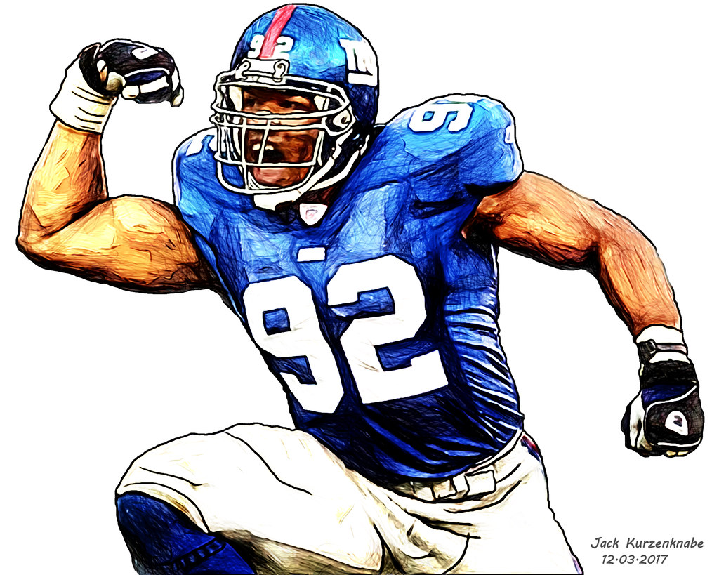timeless design e2312 5629b New York Giants Michael Strahan | View all my NFL drawings b ...