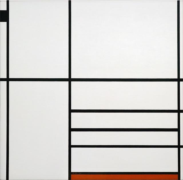 Composition en blanc, noir et rouge de Piet Mondrian (Fondation Louis Vuitton, Paris)
