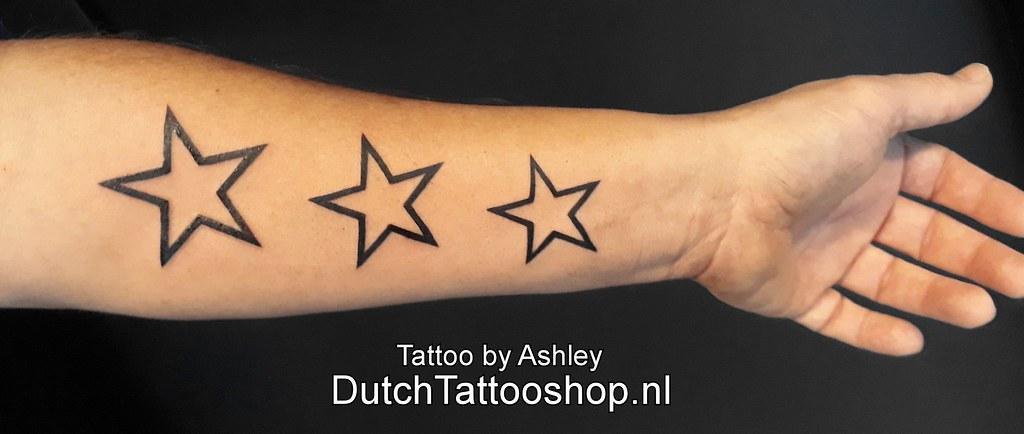 Arm Onderarm Tattoo Sterren Ster Stars Star Dutch Tattoo