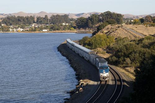 pinole california amtrak passenger train californiazephyr railroad ge generalelectric p42dc genesis locomotive