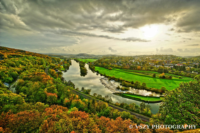 Ruhr River from the Berger Monument