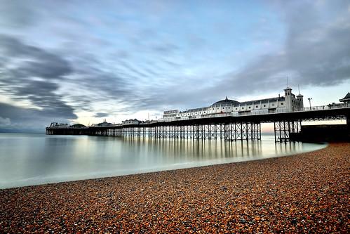 beach pier seaside coast dawn sunrise longexposure clouds sky water 1500v60f ghe