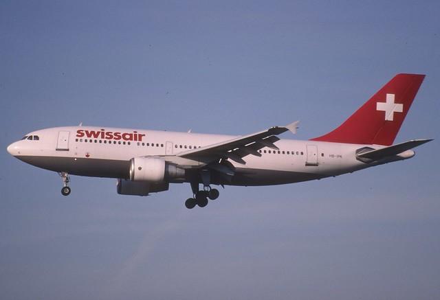 17aa - Swissair Airbus A310-300; HB-IPK@ZRH;30.03.1998