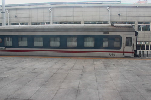 North Korean carriage at Dandong train station   by Timon91