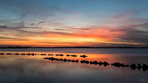 landscape photosbymch sunset sky clouds cirrusclouds reflection goldenhour bay backbaynationalwildliferefuge falsecape virginiabeach virginia usa 2017 canon 5dmkiv waterfront water