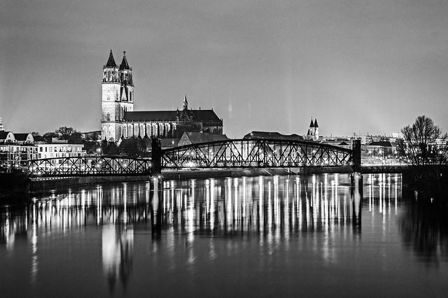 Magdeburg Hubbrücke+Dom