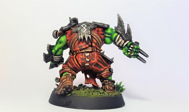 KLAWDIUZ of Thi EmPeraZZ (Back) (Blood Bowl (Games Workshop's 2016 Edition) Orc Lineman)